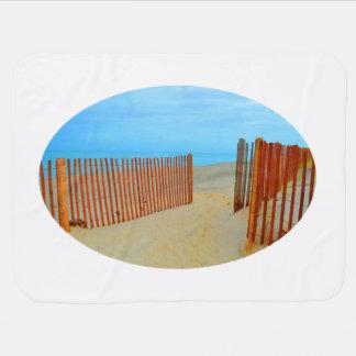 Florida-Strand mit dem Zaun bunt Babydecke