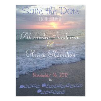 Florida-Strand-Sonnenuntergang-Save the Date Magnetische Karte
