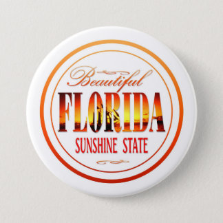 Florida USA Runder Button 7,6 Cm