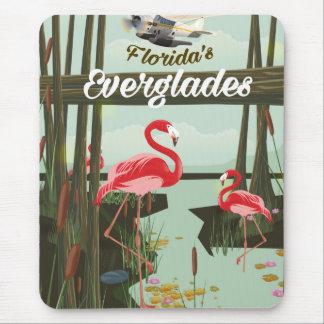 Floridaeverglades-Cartoon-Reiseplakat Mousepad