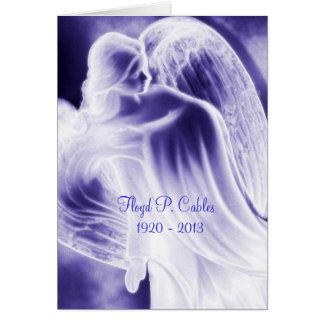 Florillas blauer Engels-Beileid danken Ihnen zu Karte