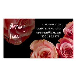 FLORIST - rosa Visitenkarten Vorlage