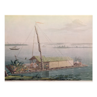 Floss auf dem Guayaquil-Fluss Postkarte