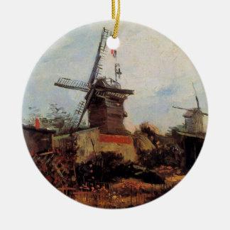 Flosse Van Gogh Le Moulin de Blute, Vintage Keramik Ornament