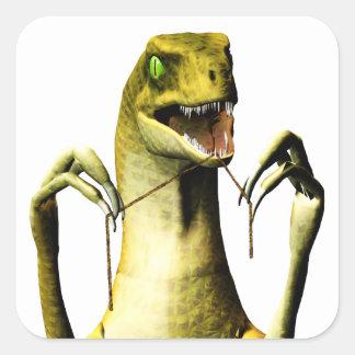 Flossing Aufkleber des Dinosauriers