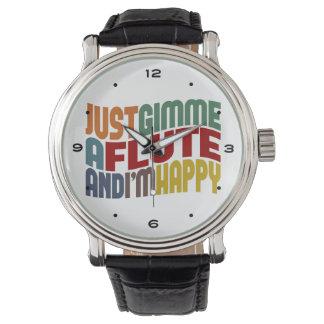 Flöte Armbanduhr