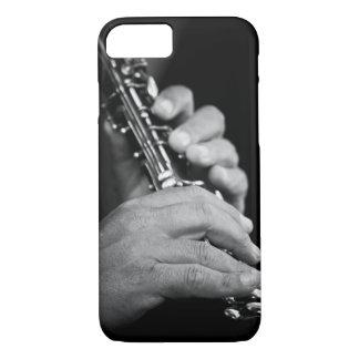 Flöte, die in Schwarzweiss vom Sinti und Roma iPhone 8/7 Hülle