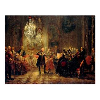 Flöten-Konzert mit Frederick das große Postkarte