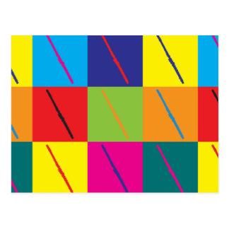 Flöten-Pop-Kunst Postkarte