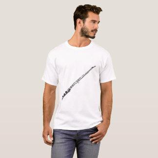 Flöten-Silhouette-Weiß T-Shirt