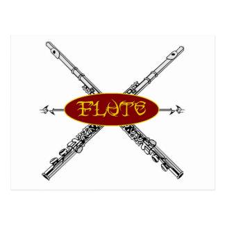 Flöten-Stammes- Entwurf Postkarte