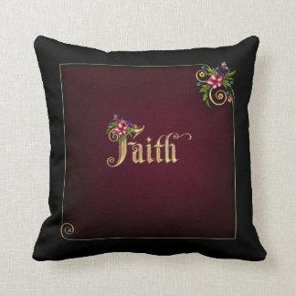 Flourina Glauben-Vers - kundengerecht Kissen