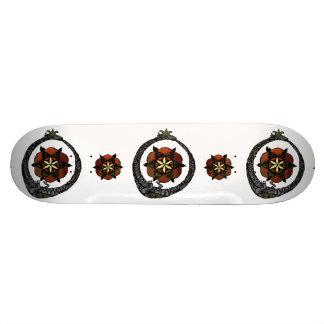 FlouroborosOfLife (Ouroboros u. FlowerOfLife) 19,7 Cm Skateboard Deck