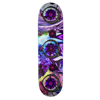 FlouroborosOfLife (Ouroboros u. FlowerOfLife) (P) Skateboard
