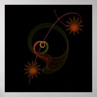 Flower-Fraktal Poster