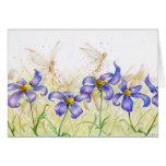 Flower Hopping Grußkarte
