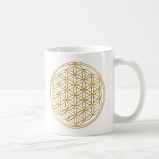 FLOWER OF LIFE gold Kaffeetasse
