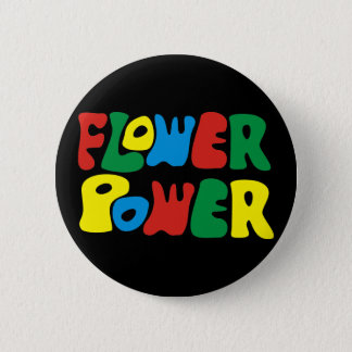Flower Power Hippie Runder Button 5,7 Cm