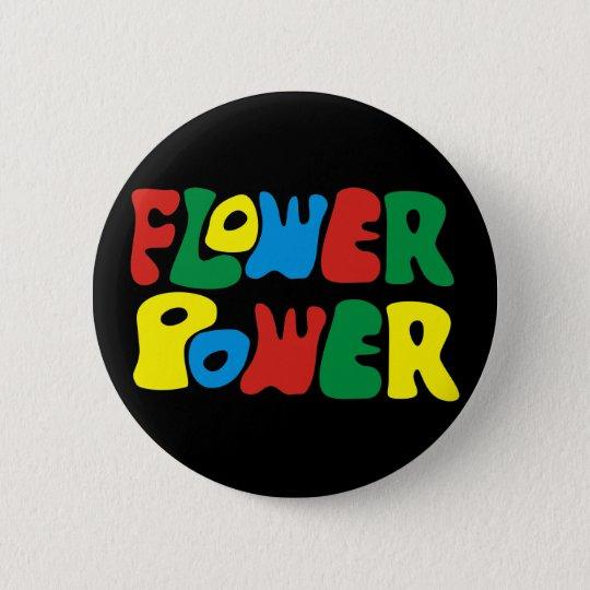 Flower Power Hippie Runder Button 5,7 Cm