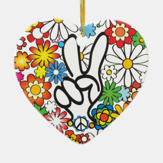 Flower Power Keramik Ornament