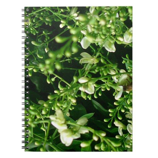 Flower Spiral Fotonotizbuch Notizblock