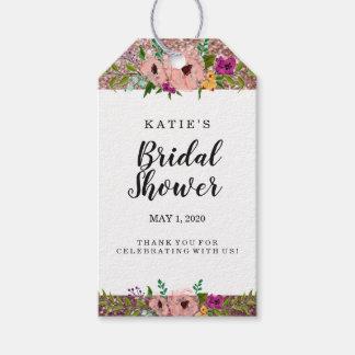 FlowerCrown Glitzer-Brautparty danken Ihnen Geschenkanhänger