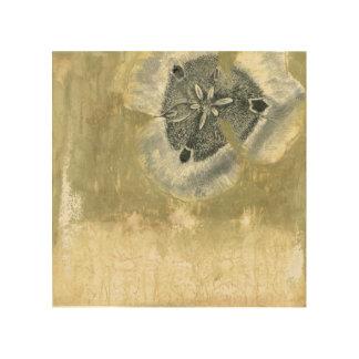 Flowerhead abstrakt mit glasig-glänzender holzdruck