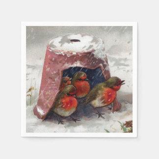 Flowerpot-Schutz für englische Rotkehlchen Papierserviette