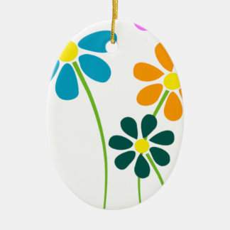 flowers blumen flower blume frühling spring ovales keramik ornament