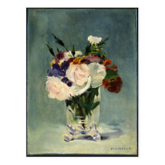 Flowers_in_a_Crystal_Vase, _Edouard_Manet, _c1882 Postkarte