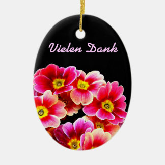 Flowers Ovales Keramik Ornament