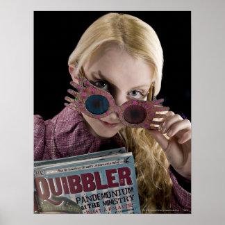 Flüchtige Blicke Lunas Lovegood über Gläsern Poster