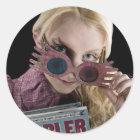 Flüchtige Blicke Lunas Lovegood über Gläsern Runder Aufkleber