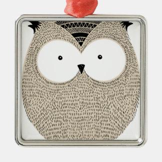 Flüchtige Illustration der niedlichen lustigen Quadratisches Silberfarbenes Ornament
