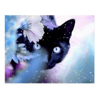 Flüchtiger Blick ein Boo Postkarte