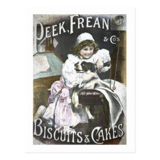 Flüchtiger Blick, Frean u. Co.-Kekse und Postkarte