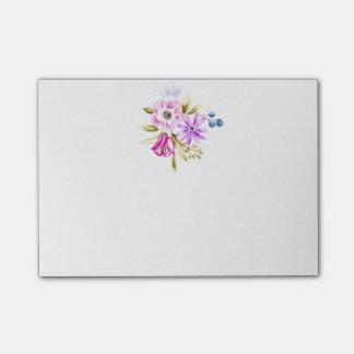 Flüchtiges Blumenkunst-Logo-Gewohnheits-Post-It Post-it Klebezettel