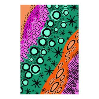 Flüchtiges helles geometrisches Form-Muster Personalisiertes Druckpapier