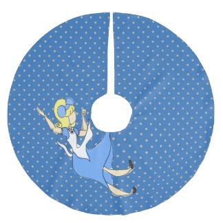 Flüchtiges Muster Märchenland-fallendes Alices Polyester Weihnachtsbaumdecke