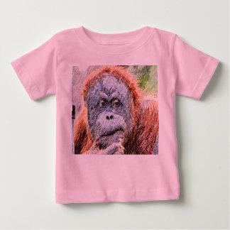 flüchtiges orang baby t-shirt