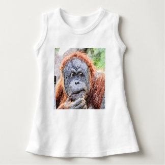 flüchtiges orang kleid