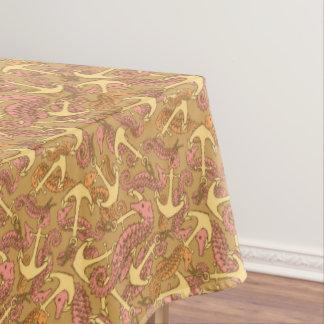 Flüchtiges Seepferd-und Anker-Muster Tischdecke