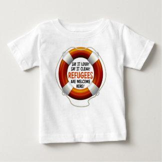Flüchtlinge begrüßen Baby-Jersey-T - Shirt