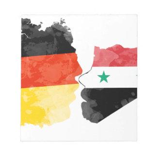 Flüchtlinge Willkommen, Syrien-Deutschland Notizblock