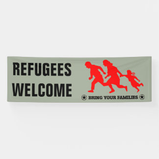 Flüchtlings-Willkommen holen Ihre Familie Banner