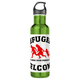 Flüchtlings-Willkommen holen Ihre Familie Edelstahlflasche