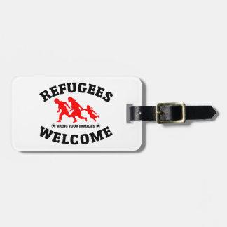 Flüchtlings-Willkommen holen Ihre Familie Kofferanhänger