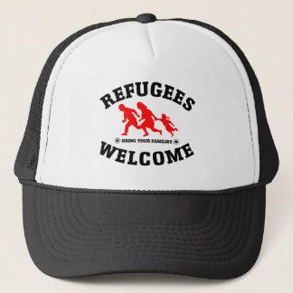 Flüchtlings-Willkommen holen Ihre Familie Truckerkappe