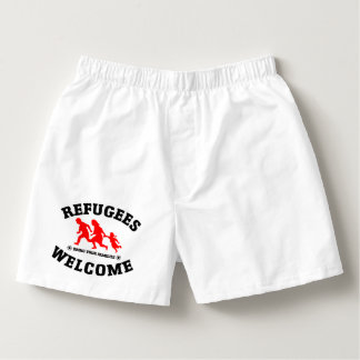 Flüchtlings-Willkommen holen Ihre Familien Herren-Boxershorts