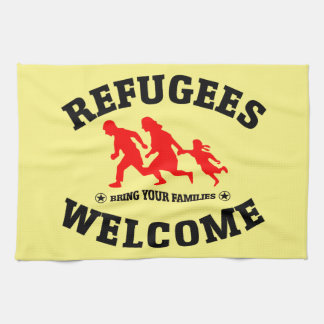 Flüchtlings-Willkommen holen Ihre Familien Küchentuch